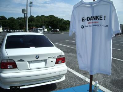 PA で Tシャツと E39